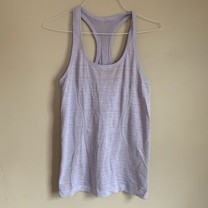 Lululemon size 8 purple Tank Top Razorback Swiftly